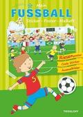 Mein Sticker-Poster-Malheft: Fußball