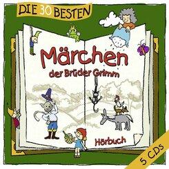 Die 30 besten Märchen der Brüder Grimm, 5 Audio-CDs