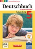 Deutschbuch, Erweiterte Ausgabe Nordrhein-Westfalen: 5. Schuljahr, Arbeitsheft mit CD-ROM