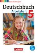 Deutschbuch, Gymnasium Bayern, Neubearbeitung: 5. Jahrgangsstufe, Arbeitsheft mit Lösungen