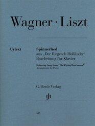 """Spinnerlied aus """"Der Fliegende Holländer"""", Bearbeitung für Klavier"""