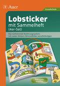 Lobsticker mit Sammelheft (4er-Set)