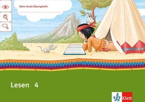 Mein Indianerheft: Lesen, Klasse 4