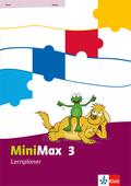 MiniMax: 3. Schuljahr, Lernplaner mit 32 Teste-dich-selbst-Seiten