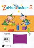 Zahlenzauber, Ausgabe Bayern 2014: 2. Jahrgangsstufe, Arbeitsheft mit CD-ROM
