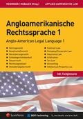Angloamerikanische Rechtssprache - Bd.1