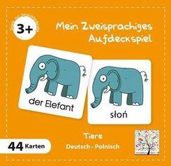 Mein Zweisprachiges Aufdeckspiel, Tiere, Polnisch (Kinderspiel)