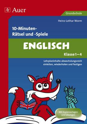 10-Minuten-Rätsel und -Spiele Englisch, Klasse 1-4