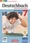 Deutschbuch, Differenzierende Ausgabe Nordrhein-Westfalen: 7. Schuljahr, Arbeitsheft, m. Übungs-CD-ROM