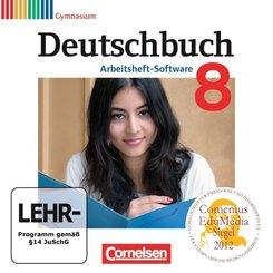 Deutschbuch, Gymnasium, Arbeitsheft-Software: 8. Schuljahr, Übungs-CD-ROM zum Arbeitsheft