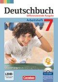 Deutschbuch, Differenzierende Ausgabe: 7. Schuljahr, Arbeitsheft mit Übungs-CD-ROM