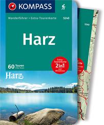 KOMPASS Wanderführer Harz, m. 1 Karte