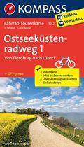 Kompass Fahrrad-Tourenkarte Ostseeküstenradweg - Tl.1