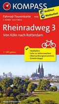 Kompass Fahrrad-Tourenkarte Rheinradweg - Tl.3