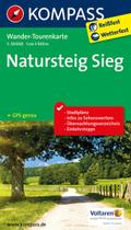 Kompass Wander-Tourenkarte Natursteig Sieg