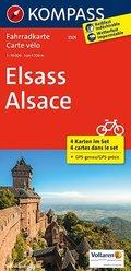 Kompass Fahrradkarte Elsass, 4 Bl.; Alsace