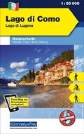 Kümmerly & Frey Outdoorkarte Lago di Como / Lago di Lugano / Comersee / Luganersee