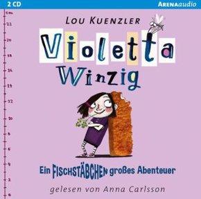 Violetta Winzig - Ein fischstäbchengroßes Abenteuer, 2 Audio-CDs
