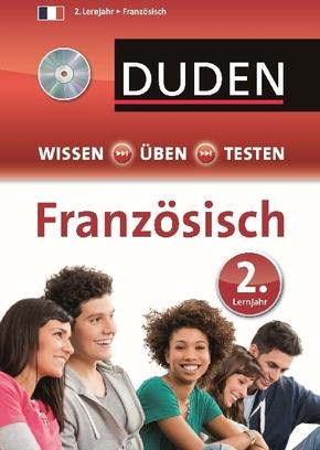 Duden Wissen - Üben - Testen, Französisch 2. Lernjahr, m. Audio-CD