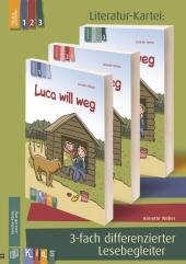 """""""Luca will weg"""" 3-fach differenzierter Lesebegleiter"""