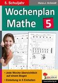 Wochenplan Mathe, 5. Schuljahr