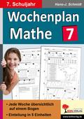 Wochenplan Mathe, 7. Schuljahr