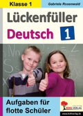 Lückenfüller Deutsch, Klasse 1