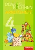 Denken und Rechnen, Ausgabe 2013 für die östlichen Bundesländer: 4. Jahrgangsstufe, Arbeitsheft