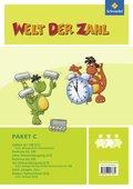Welt der Zahl - Inklusionsmaterialien: Paket C, 4 Hefte; H.C1-C4