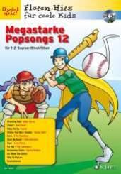 Megastarke Popsongs, 1-2 Sopran-Blockflöten, m. Audio-CD - Bd.12