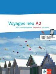 Voyages neu: Kurs- und Übungsbuch, m. 2 Audio-CDs