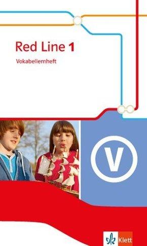 Red Line. Ausgabe ab 2014: 5. Klasse, Vokabellernheft; Bd.1