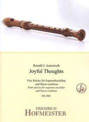 Joyful Thoughts, für Sopranblockflöte + Basso continuo