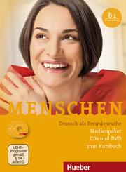 Menschen - Deutsch als Fremdsprache: Medienpaket, 3 Audio-CDs + 1 DVD (zum Kursbuch); Bd.B1