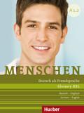 Menschen - Deutsch als Fremdsprache: Glossary XXL Deutsch-Englisch, German-English; Bd.A1.2
