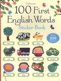 Usborne 100 First English Words Sticker Book