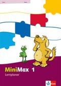 MiniMax: 1. Schuljahr, Lernplaner mit 32 Teste-dich-selbst-Seiten