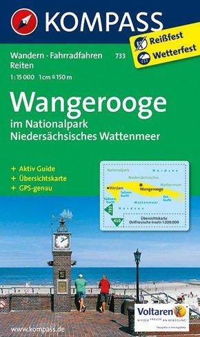 Kompass Karte Wangerooge im Nationalpark Niedersächsisches Wattenmeer