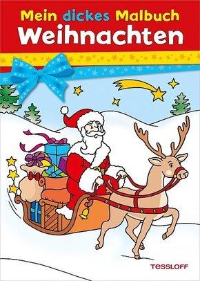 Mein dickes Malbuch Weihnachten