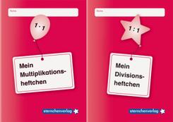 Mein Multiplikationsheftchen / Mein Divisionsheftchen, 2 Hefte