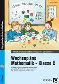 Wochenpläne Mathematik - Klasse 2, m. CD-ROM