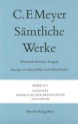 Sämtliche Werke. Historisch-kritische Ausgabe; Gedichte, 2 Bde.; Bd.5/1-2