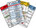 Ambulanz Karten-Set - Reanimation, EKG Auswertung - Anleitung, Notfallmedikamente Set, Laborwerte, 6 Medizinische Tasche