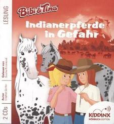 Bibi & Tina - Indianerpferde in Gefahr, 2 Audio-CDs