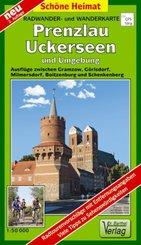 Doktor Barthel Karte Prenzlau, Uckerseen und Umgebung