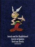 Asterix und der Kupferkessel. Asterix in Spanien. Streit um Asterix