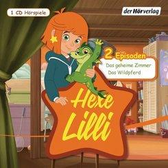 Hexe Lilli - Das geheime Zimmer & Das Wildpferd, 1 Audio-CD