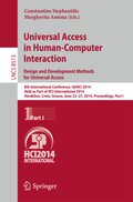 Universal Access in Human-Computer Interaction: Design and Development Methods for Universal Access
