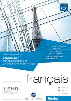 Français - Interaktive Sprachreise: Sprachkurs 1, DVD-ROM m. Audio-CD u. Textbuch