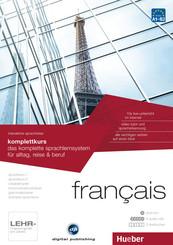 Français - Interaktive Sprachreise: Komplettkurs, DVD-ROM m. 5 Audio-CDs u. 3 Textbücher